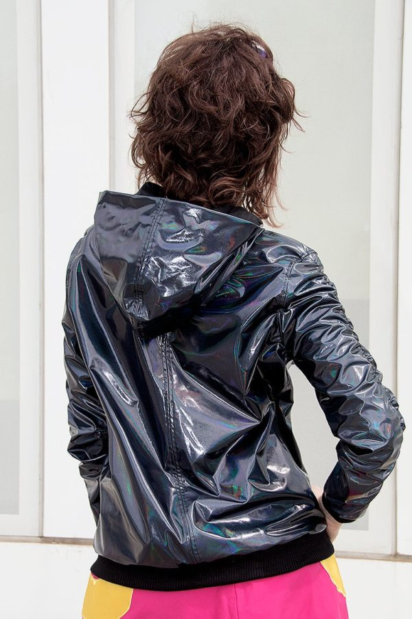 Holotastic black holographic deluxe Jacket detail 3