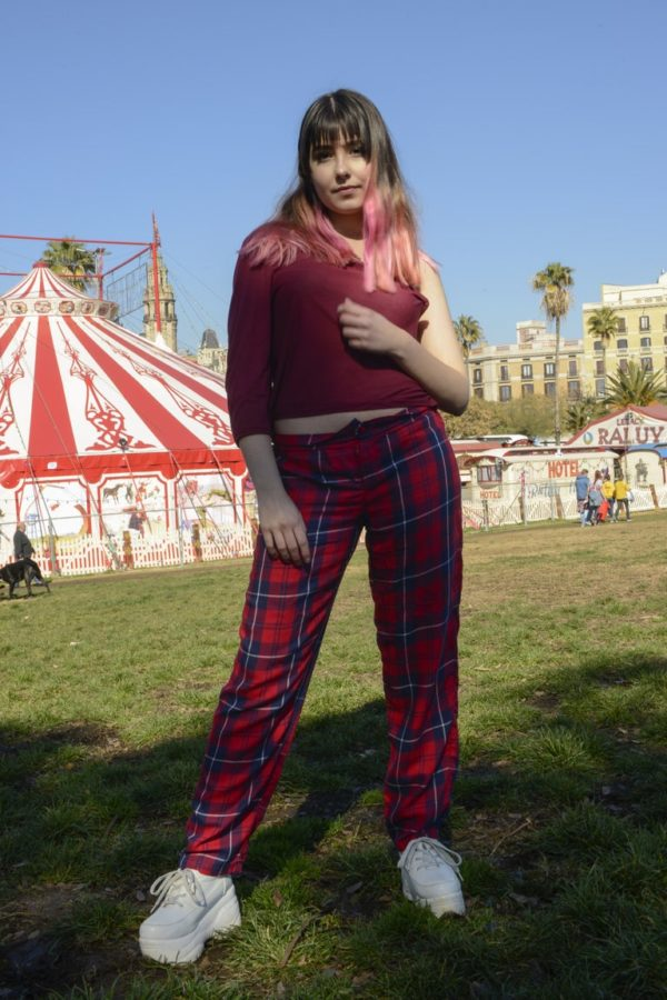 Rave in Circus Plaid straight pants cover
