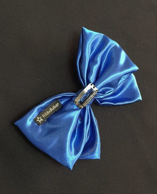Ribbolutton Official Bow in Electric Blue detail