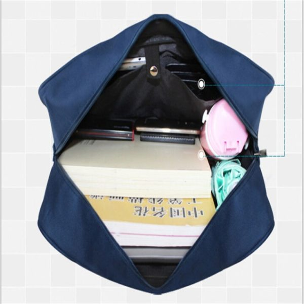 School style cosplay Bag in Black and Blue detail 1