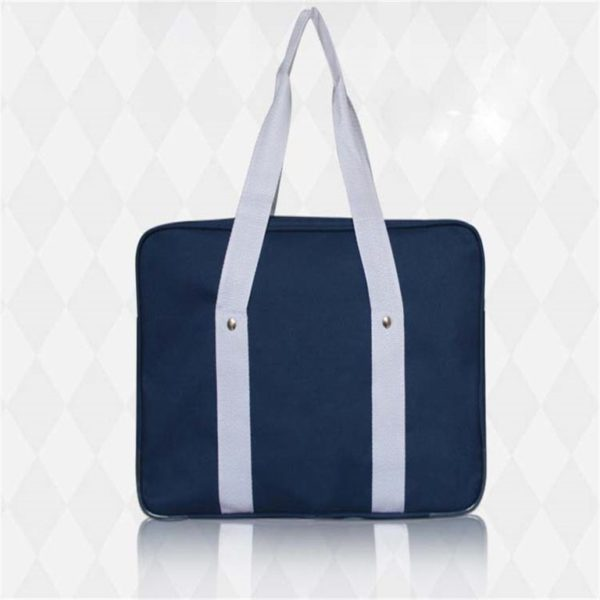 School style cosplay Bag in Black and Blue detail 3