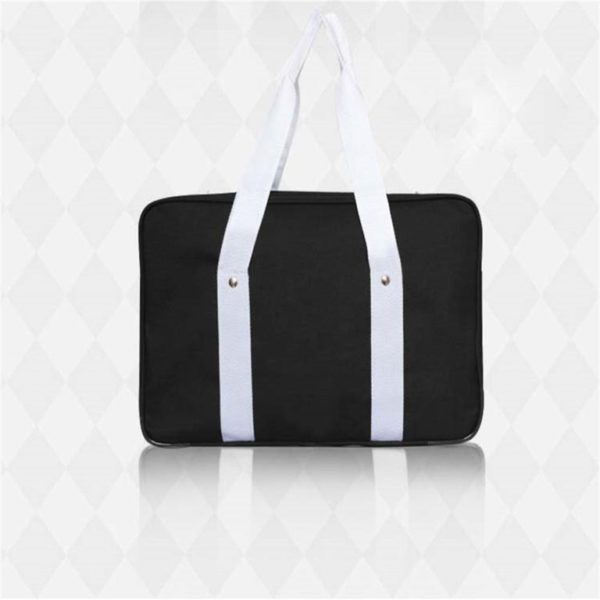 School style cosplay Bag in Black and Blue detail 4