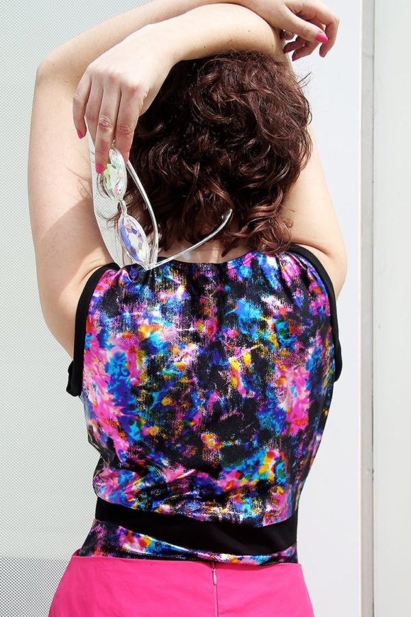 Holotastic ethereal print bodysuit detail 1