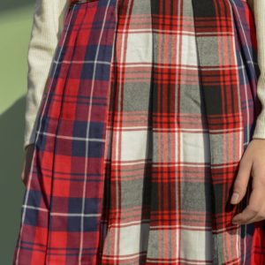Hustle Rumble Plaid combined Skirt cover