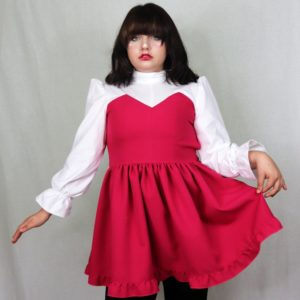 Imadoki Urban Lolita dress in fucsia cover