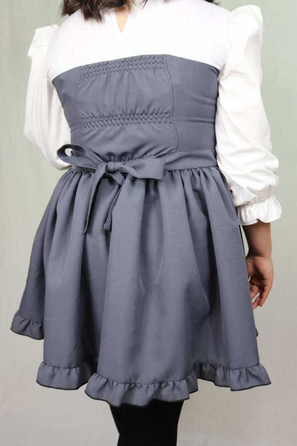 Imadoki Urban Lolita dress in gray detail 3
