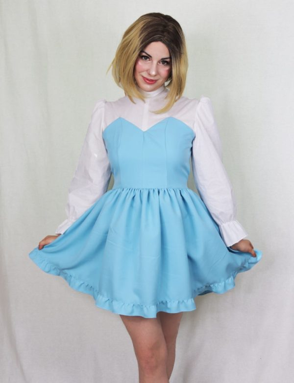 Imadoki Urban Lolita dress in light blue cover