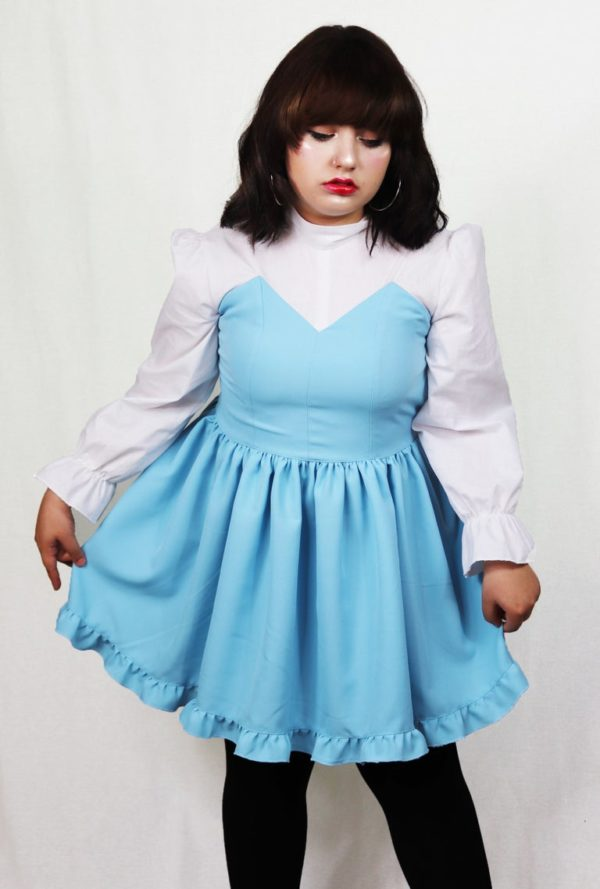 Imadoki Urban Lolita dress in light blue detail 1