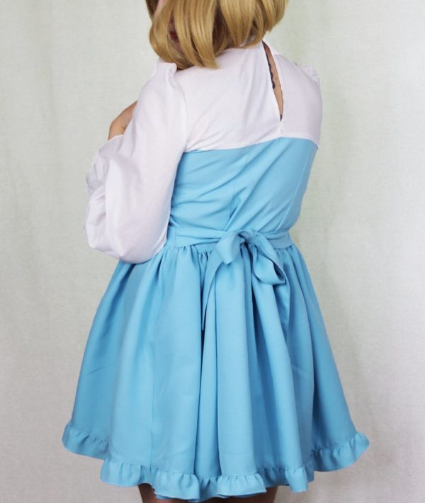 Imadoki Urban Lolita dress in light blue detail 2