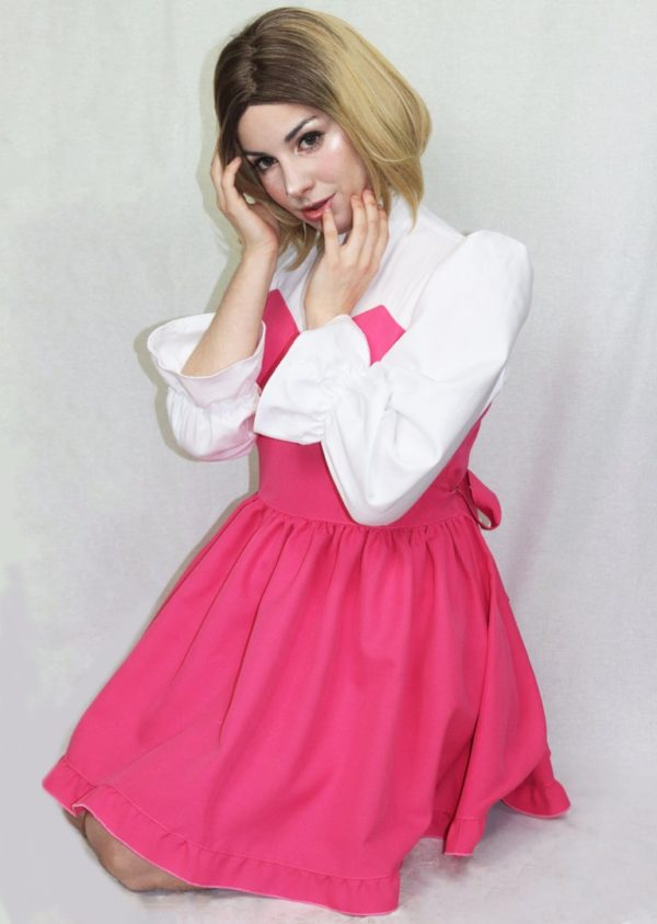Imadoki Urban Lolita dress in pink detail 2