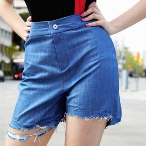 Neo-Tokyo Denim highwaisted heart embroidered short pants cover