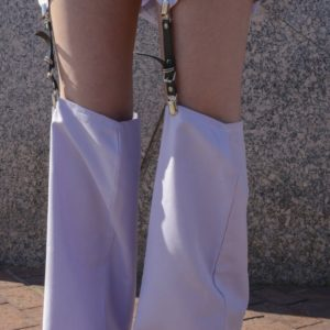 Pastel Groovin Skirt and Sock lilac set cover