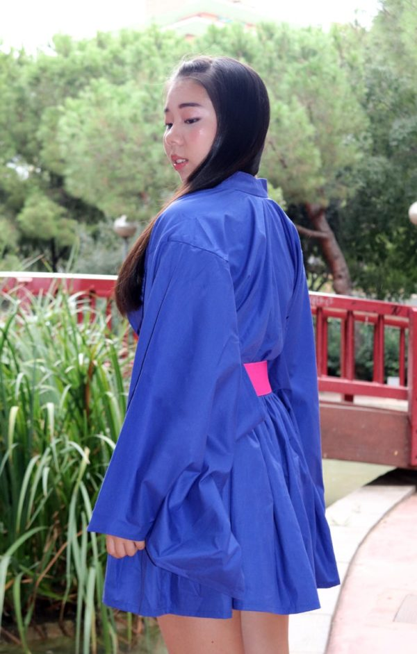 Urban Blue Kimono Dress detail 1