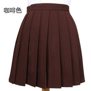 Brown basic pleated skirt cover