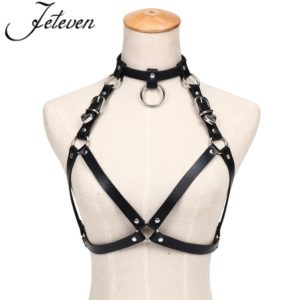 Hearty black bust harness cover