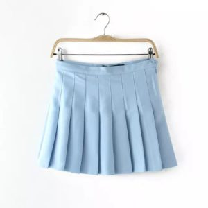 Light blue basic tennis skirt cover