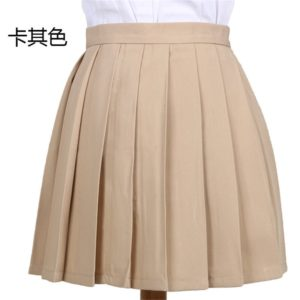 Light brown pleated skirt cover
