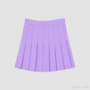 Lilac violet basic tennis skirt cover