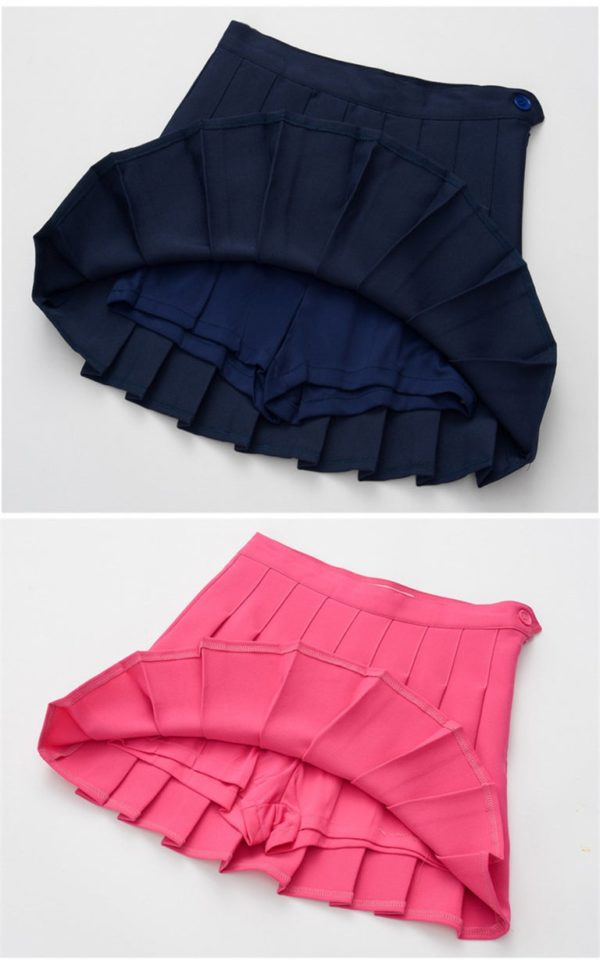 Navy blue basic tennis skirt detail 2