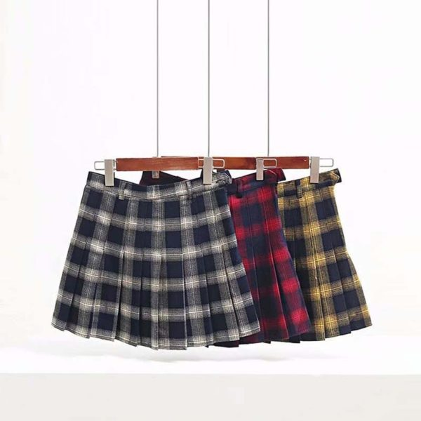 Plaid soft tennis skirt cover
