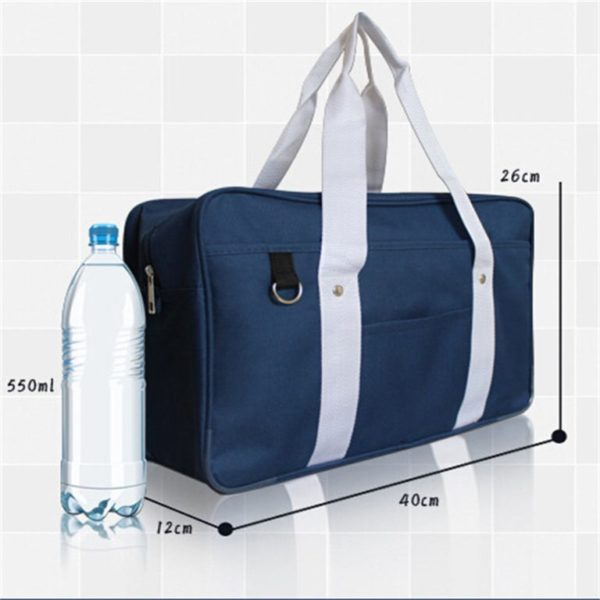School style cosplay Bag in Black and Blue detail 2