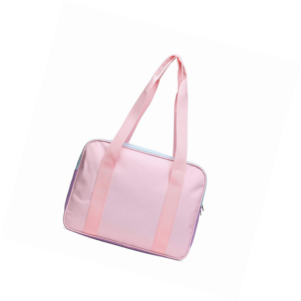 School style ita bag in mixed pink-purple detail 1