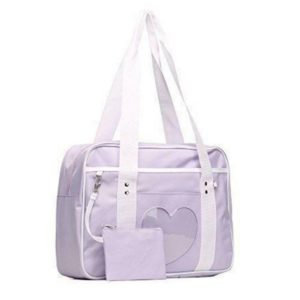 School style ita bag in purple cover