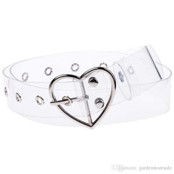 Transparent Belt with Heart Buckle cover